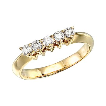 14k Yellow Gold 0.33 Ct Diamond Wrap Band