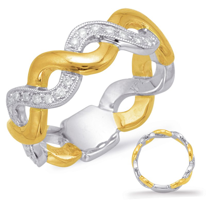 S. Kashi & Sons Bridal Yellow & White Gold Diamond Fashion Ring