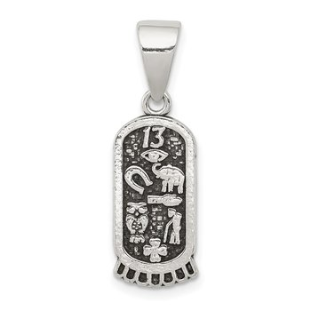 Sterling Silver Antiqued Mini Good Luck Icons Pendant