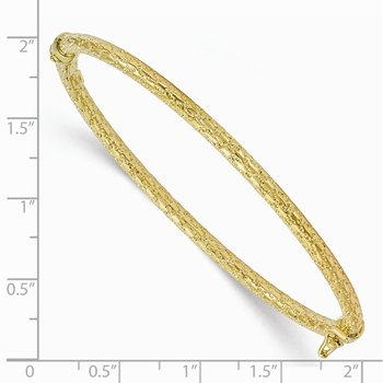 Leslie's 10K Polished and Textured Hinged Bangle