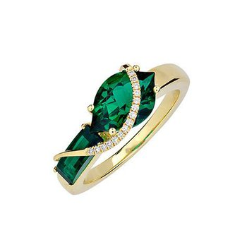Emerald Ring-CR11873YEM