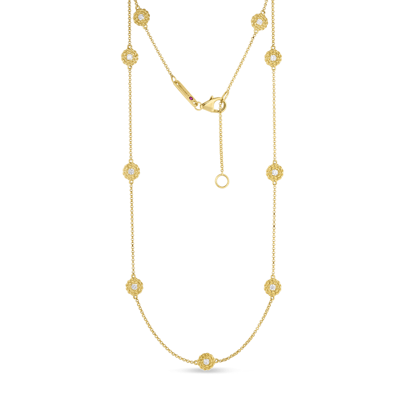 Roberto Coin Necklace With Diamond Stations