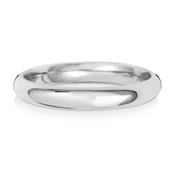 Platinum 3mm Traditional Court Wedding Ring