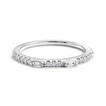 Multi-Shape Diamond Wedding Band