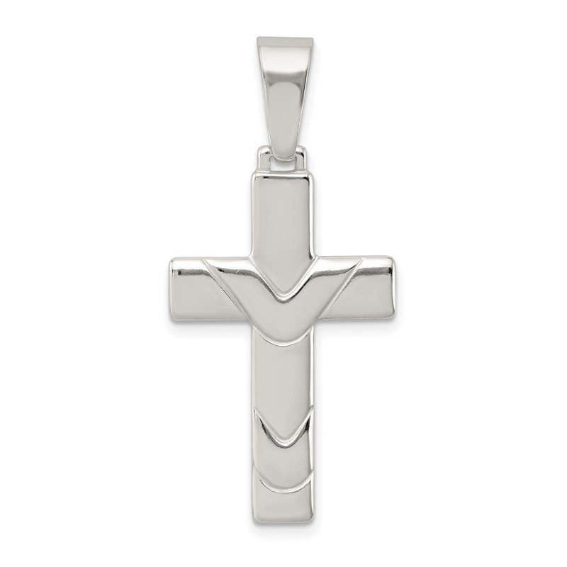 JC Sipe Essentials Sterling Silver Polished Cross Pendant