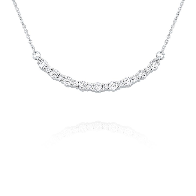 KC Designs 14k Gold and Diamond Curved Bar Necklace