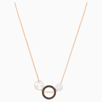 Hote Versatile Pendant, Black, Rose-gold tone plated