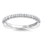 Valina Stackable Wedding Band in 14K White Gold (.23 ct. tw.)