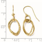 Leslie's Leslie's 10K Polished and Textured Shepherd Hook Dangle Earrings