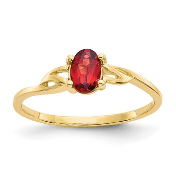 14k Garnet Birthstone Ring