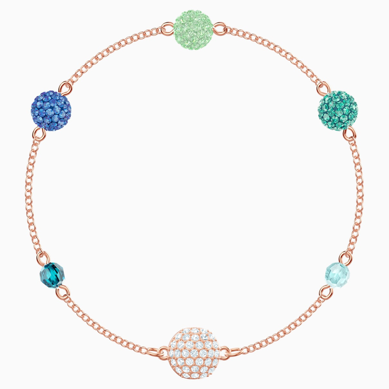 Swarovski Swarovski Remix Collection Pop Strand, Green, Rose-gold tone plated