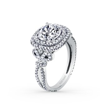 Award Winning Double Halo Diamond Engagement Ring