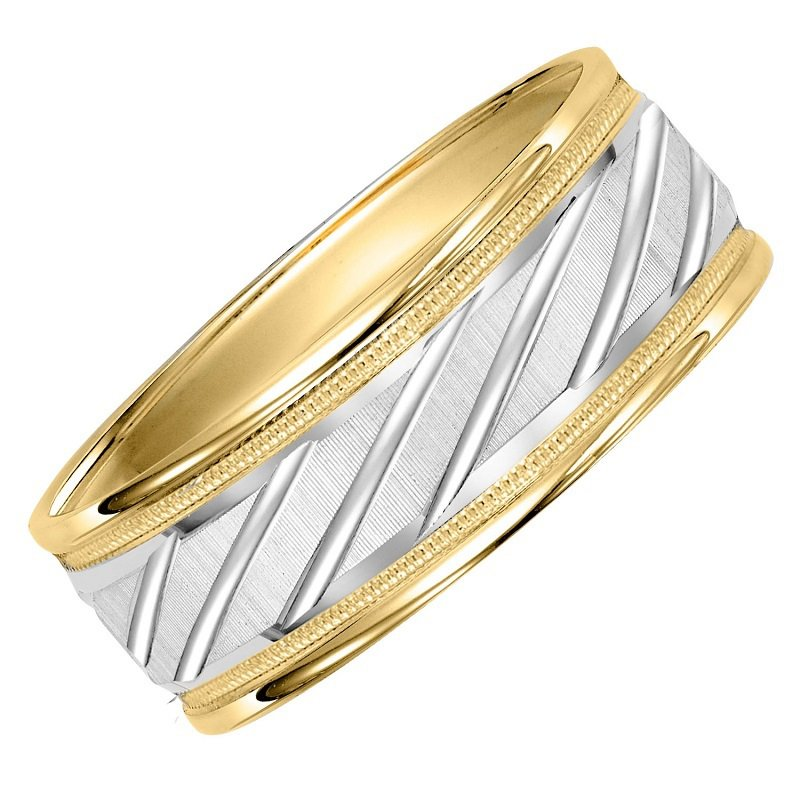 Bridal Bells Gold Two Tone Gents Band