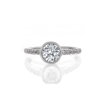 Bezel Set Diamond Engagement Ring