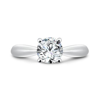 Solitaire Engagement Ring in 14K White Gold with Platinum Head (1ct. tw.)