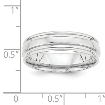 14k White Gold Standard Comfort Fit Fancy Band