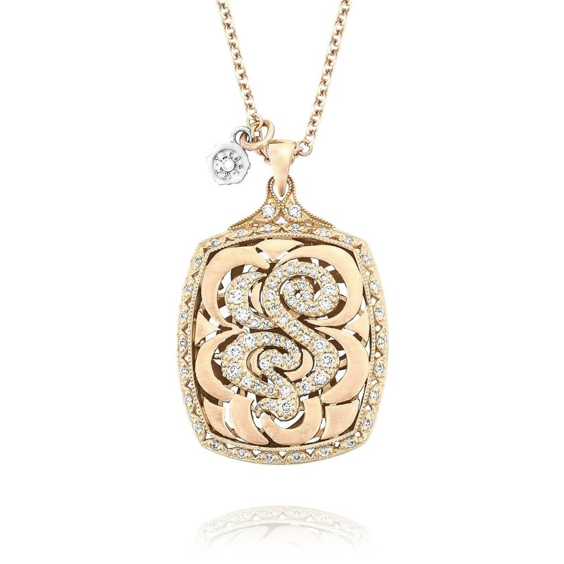 Tacori Fashion Bold Initial Pendant in Rose Gold