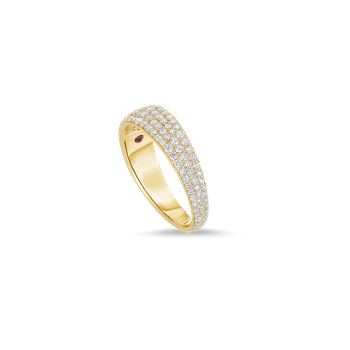 Ring With Diamonds &Ndash; 18K Yellow Gold, 7.5