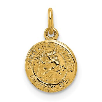 14k Saint Christopher Medal Charm