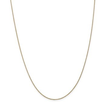 14k .9mm Cable with Lobster Clasp Chain