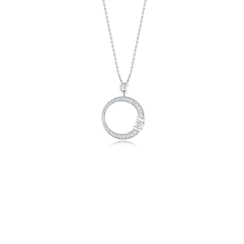 Roberto Coin Cento Medium Pave Signature Pendant