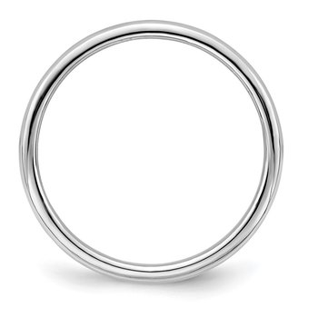 Sterling Silver Rhodium-plated 2mm Half-Round Band
