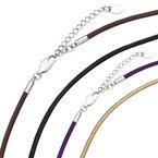 "Kameleon Kameleon Kameleon Black Leather 18"" Necklace"