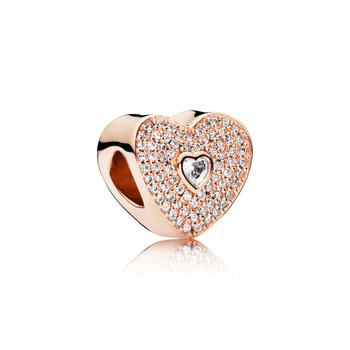 Sweetheart Charm, PANDORA Rose™ & Clear CZ