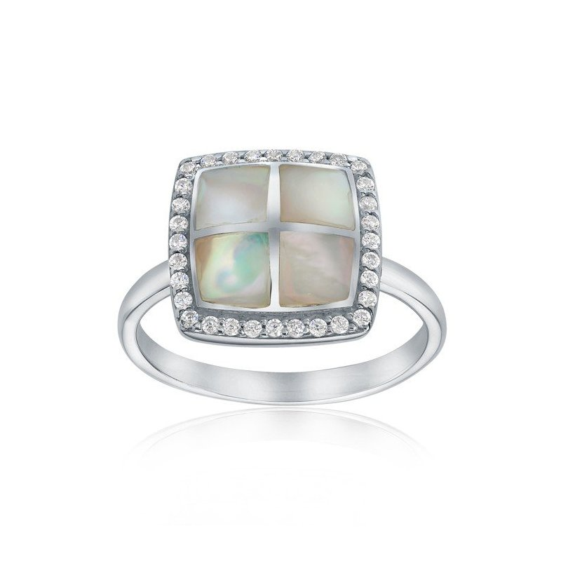 LARUS Jewelry Square Mother of Pearl Ring