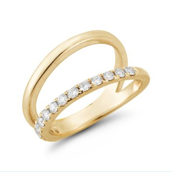 14K Open design Diamond ring