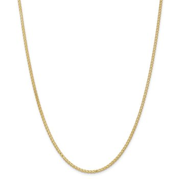 14k 2.5mm Flat Wheat Chain
