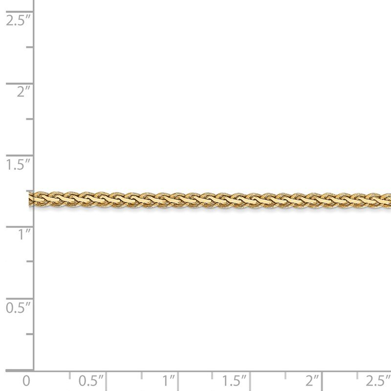 Quality Gold 14k 2.5mm Flat Wheat Chain