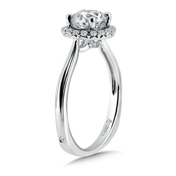 Classic Elegance Collection Halo Engagement Ring in 14K White Gold with Platinum Head (1ct. tw.)