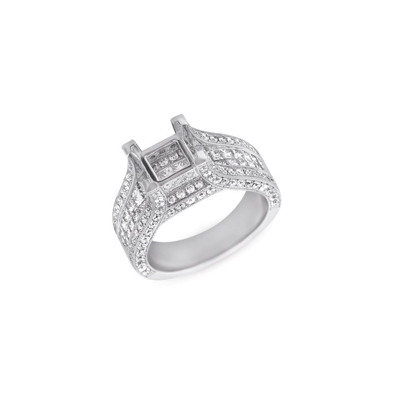 S. Kashi & Sons Bridal White Gold Enagement Ring