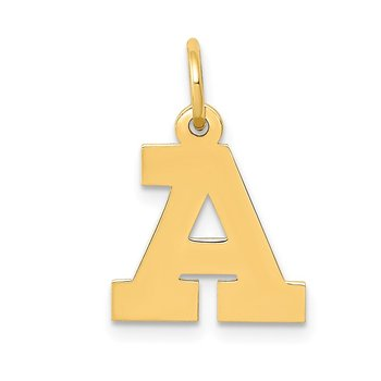 14k Small Block Letter A Initial Charm