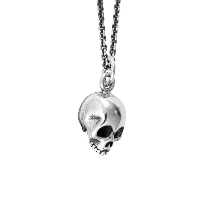 King Baby Skull Pendant On Micro Rolo Chain