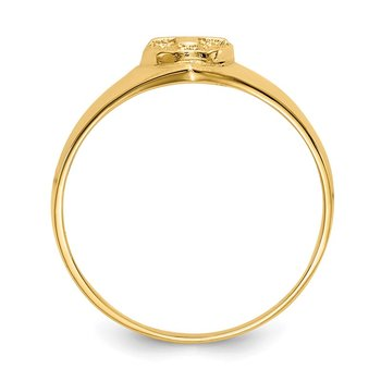 14k Childs Polished Cross Ring