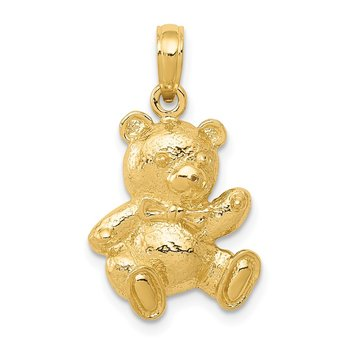 14k Teddy Bear Pendant
