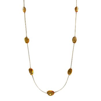Citrine Station Necklace