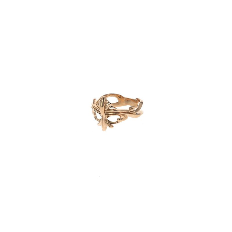 King Baby Gold Open Scroll Ring
