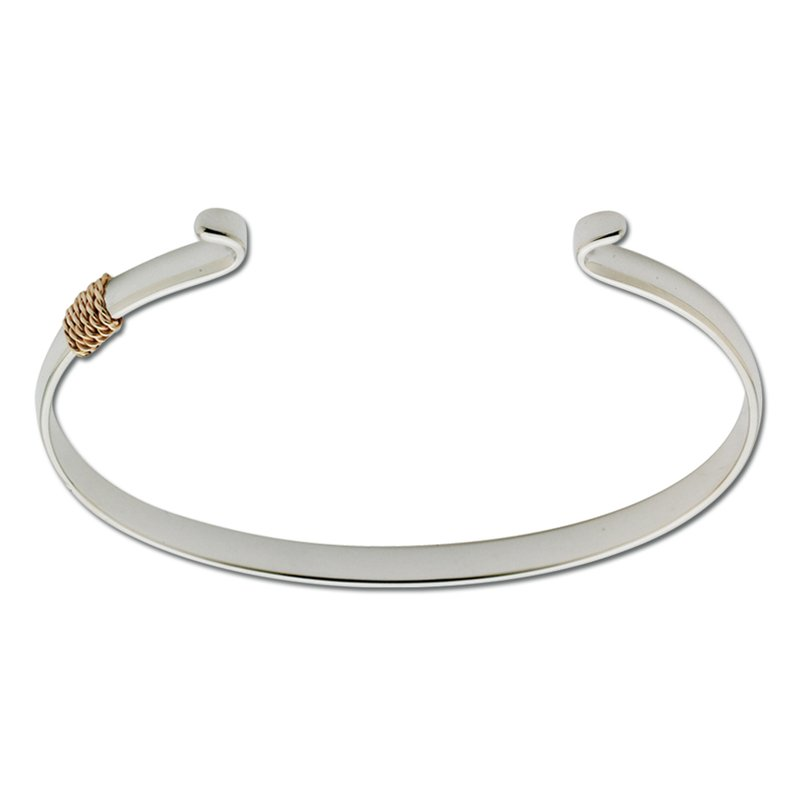 Lestage Two Tone Narrow Wrap Bracelet