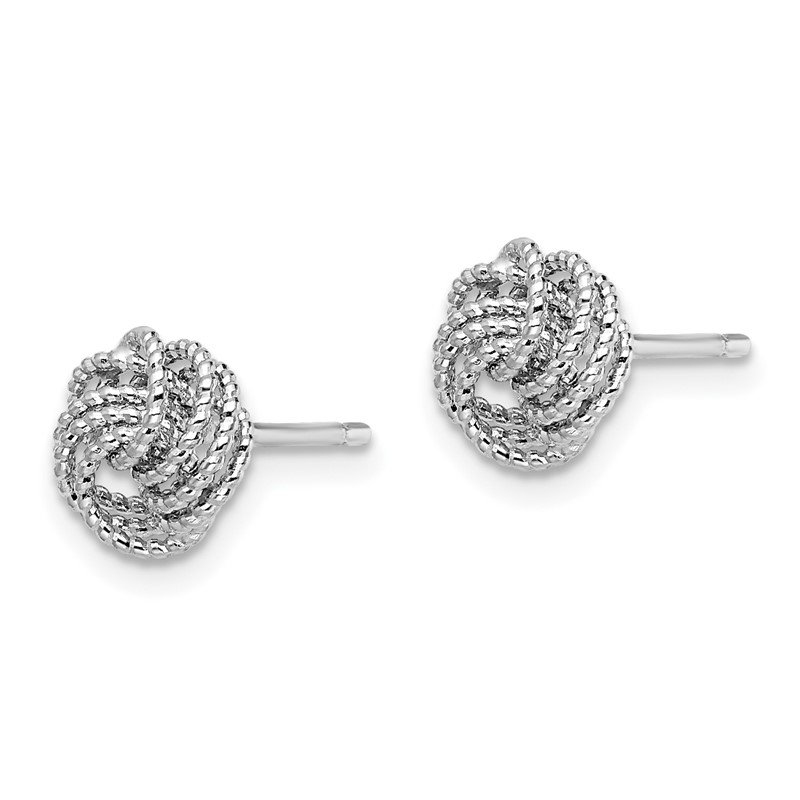 Leslie's Leslie's 14k White Gold Textured Love Knot Post Earrings