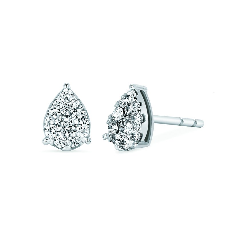 J.F. Kruse Signature Collection Earrings Rd V 0.34