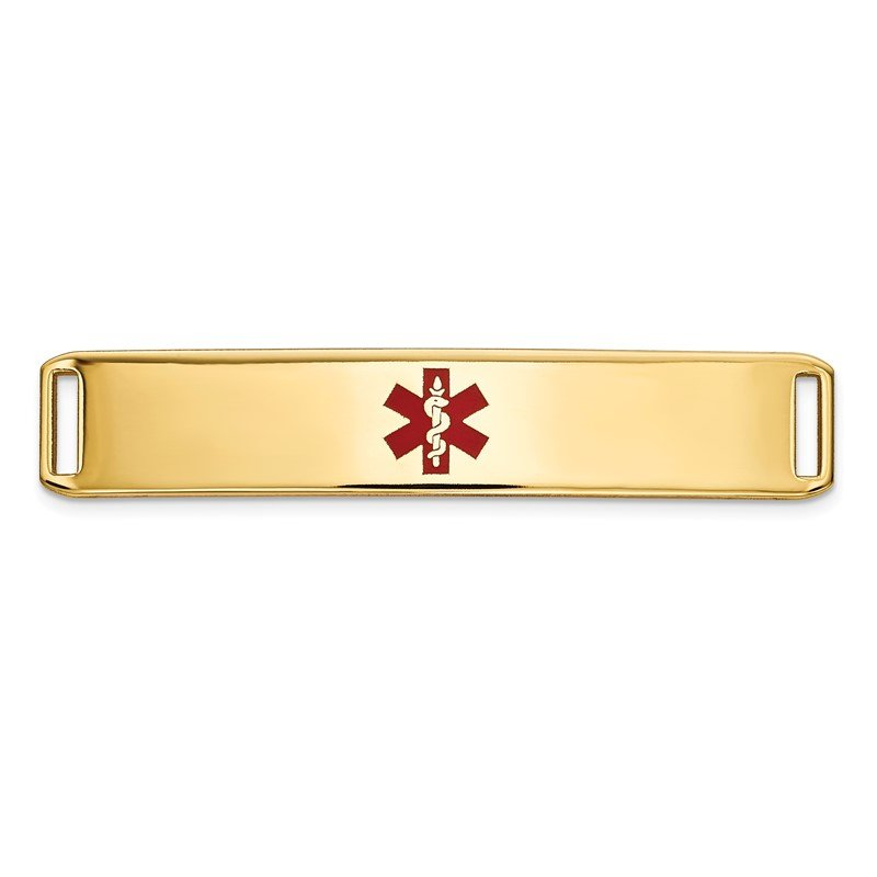 Quality Gold 14K Epoxy Enameled Medical ID Ctr Plate # 819