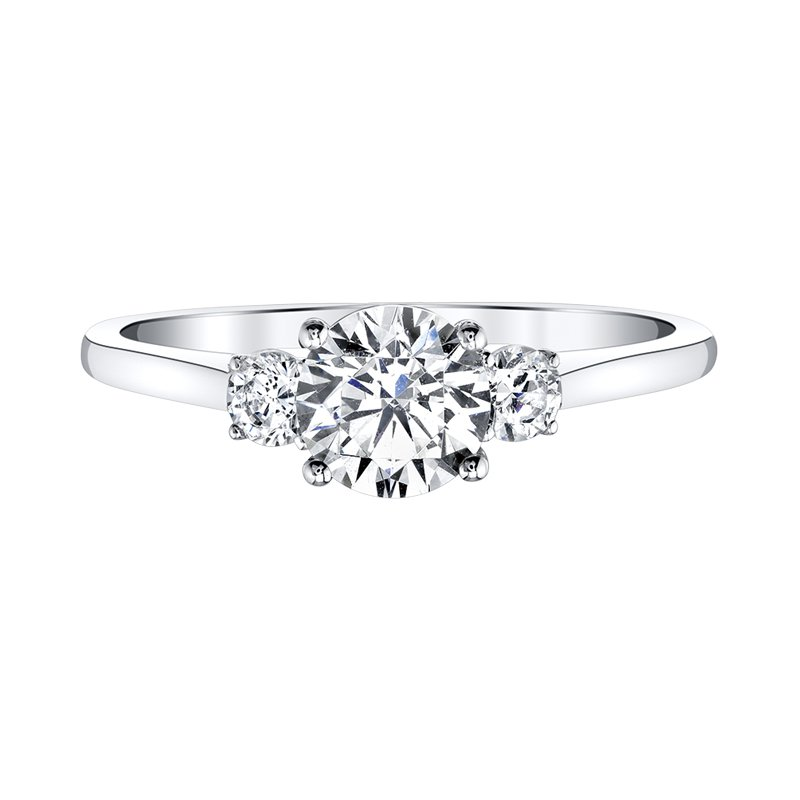Love Story Three-Stone Engagement Ring by Love Story