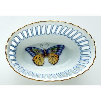 Small Oval Blue Dish
