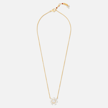 Penélope Cruz Icons of Film Flower Necklace, White, Gold-tone plated