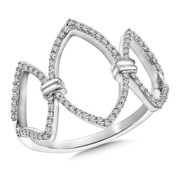 Open Marquise Diamond Ring in 14K White Gold (1/4 ct. tw.)