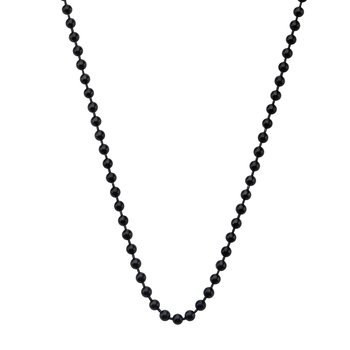 3mm Black Plated Ball Chain with Lobster Clasp