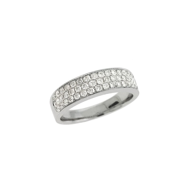 S. Kashi & Sons Bridal Platinum Pave Diamond Ring